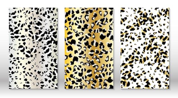 Modello leopardo pelle animale. stampa ghepardo. Vettore Premium