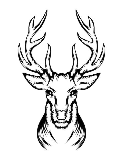 L'animazione del tatuaggio cara con la singola testa Vettore Premium