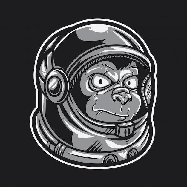 Ape astronauta Vettore Premium