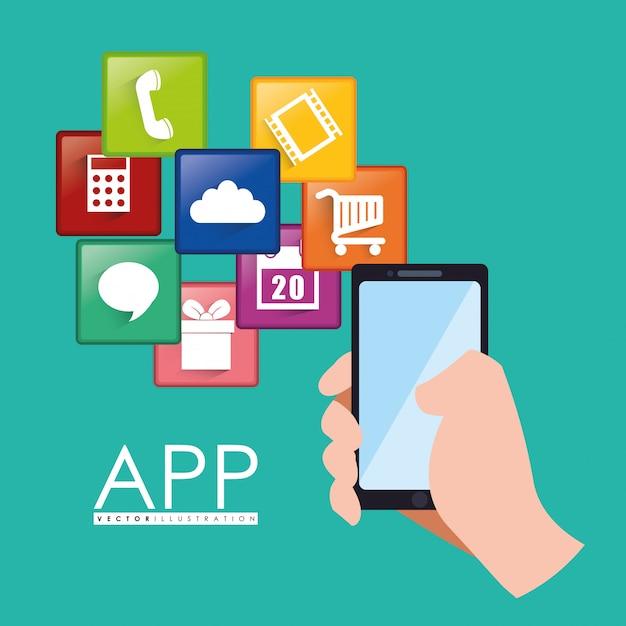 Design dell'app Vettore Premium