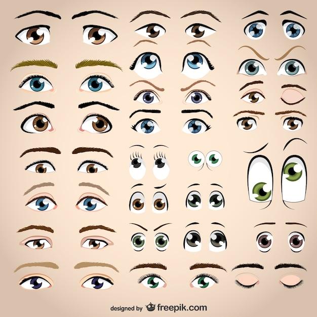 Vettore occhi Vettore Premium