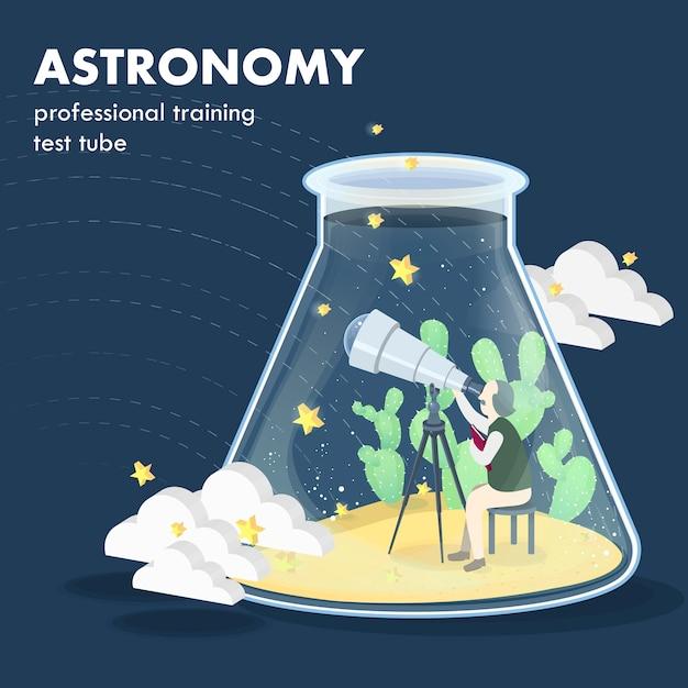 Concetto di astronomia in grafica isometrica Vettore Premium