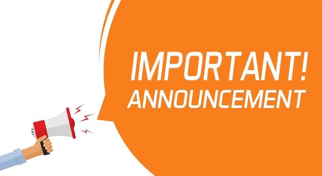 Banner messaggio di informazione importante attenzione Vettore Premium