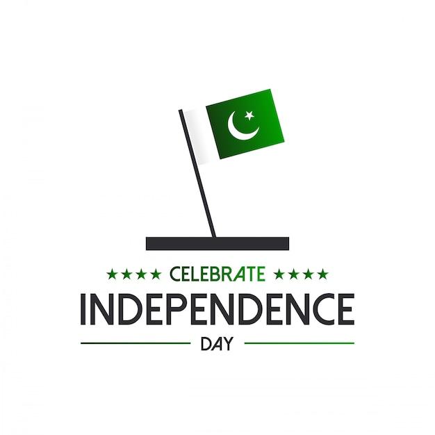 14 agosto indipendenza del pakistan. Vettore Premium