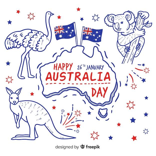 Giornata in australia Vettore Premium