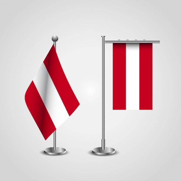 Vettore di progettazione della bandiera dell'austria Vettore Premium
