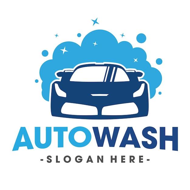 Auto lavaggio e clening car logo vector Vettore Premium