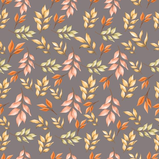 Modello senza cuciture di foglie d'autunno Vettore Premium