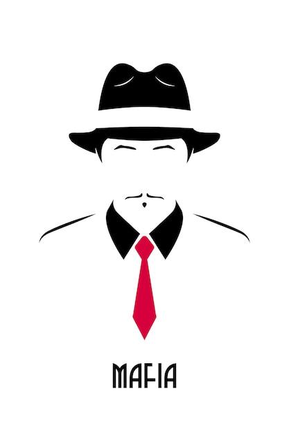 Avatar della mafia italiana. Vettore Premium