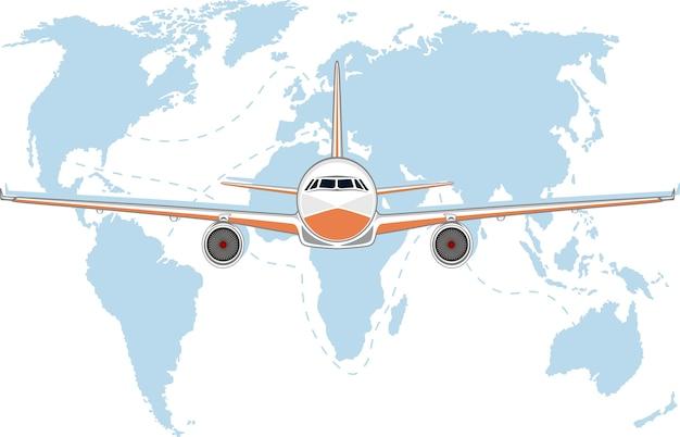 Poster di aviazione con aereo a reazione. Vettore Premium