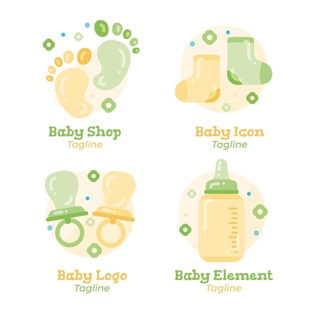 Collezione di logo del bambino Vettore Premium