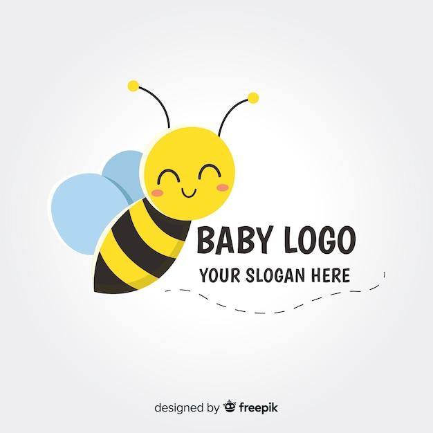 Logo del bambino Vettore Premium