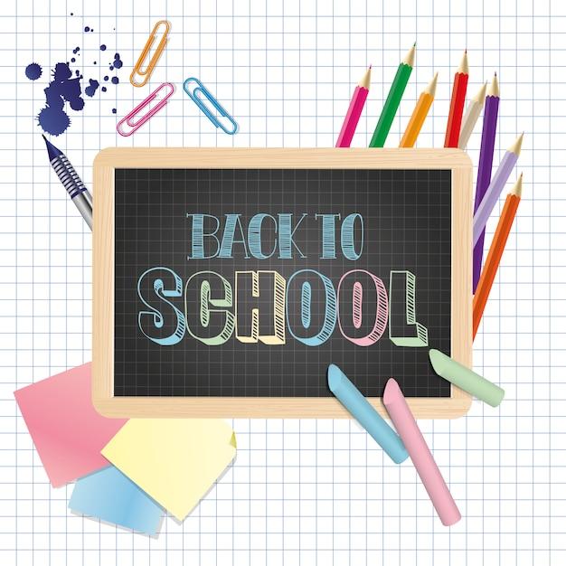 Torna a scuola illustrazione Vettore Premium