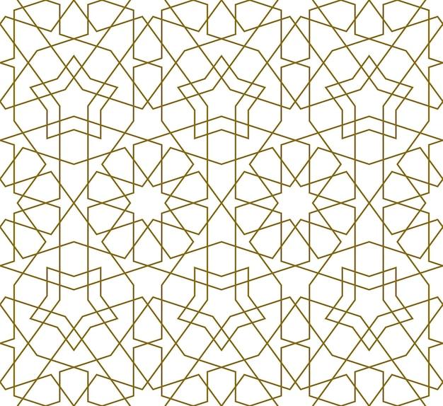 Sfondo seamless pattern basato sulla tradizionale arte islamica. Vettore Premium