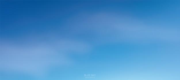 Sfondo di soffici nuvole bianche contro il cielo blu. Vettore Premium