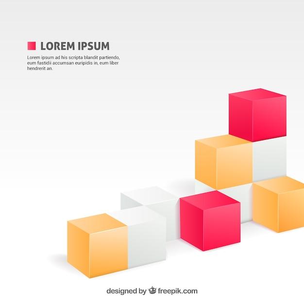 Sfondo con i cubi Vettore Premium