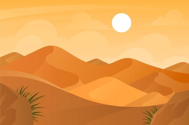 Sfondo con paesaggio desertico Vettore Premium