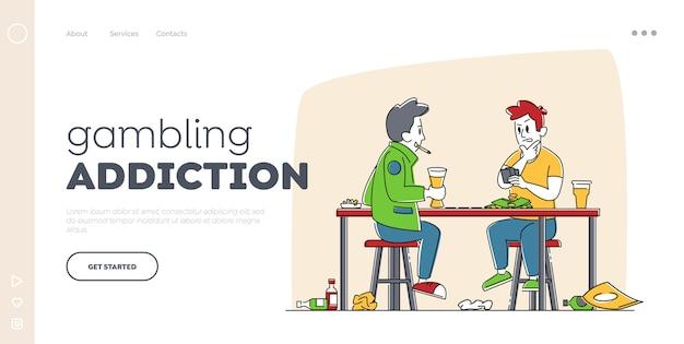 Cattive abitudini e modello di pagina di destinazione delle dipendenze. Vettore Premium