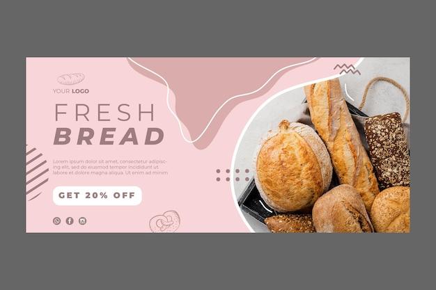 Modello di banner pubblicitario di panetteria Vettore Premium