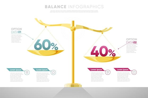 Modello di infografica di equilibrio Vettore Premium