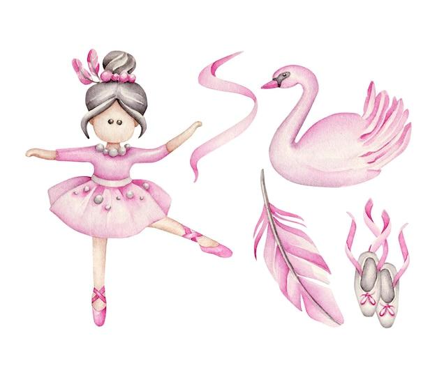 Set di balletto. Vettore Premium