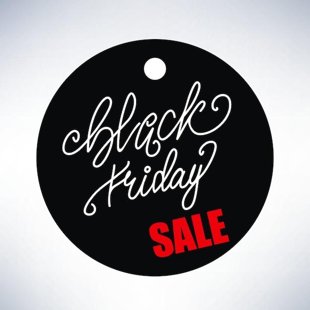 Banner design con lettering vendita black friday. illustrazione vettoriale Vettore Premium
