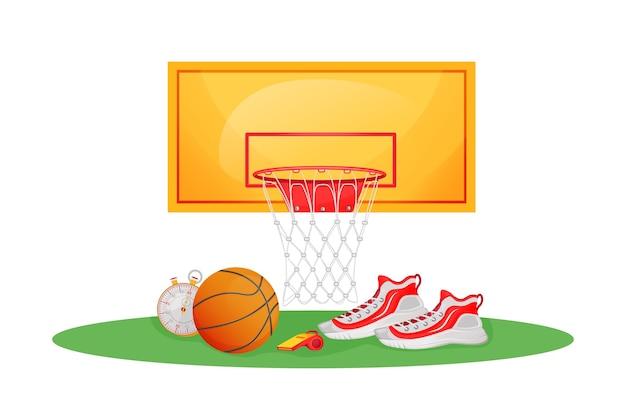 Illustrazione di concetto piatto gioco di pallacanestro Vettore Premium