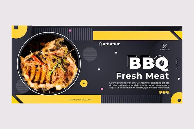 Miglior modello di banner ristorante fast food barbecue Vettore Premium