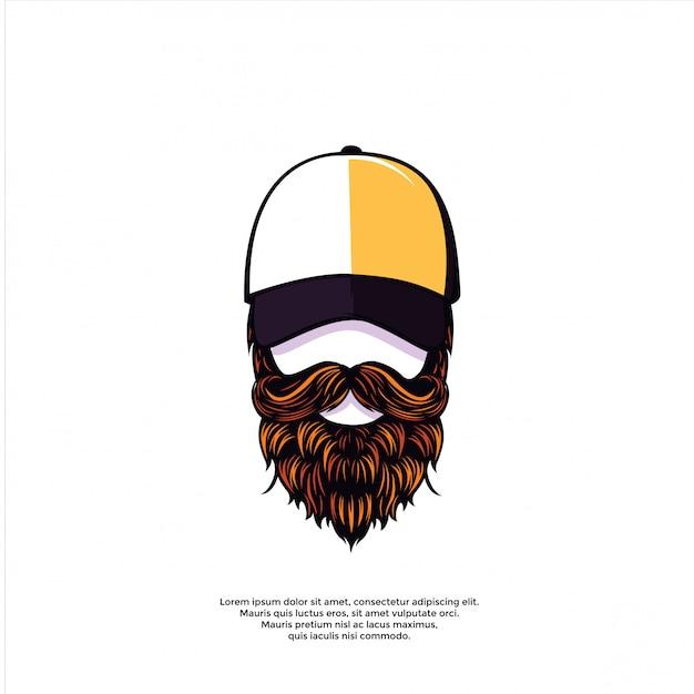 Illustrazione di uomo barbuto Vettore Premium