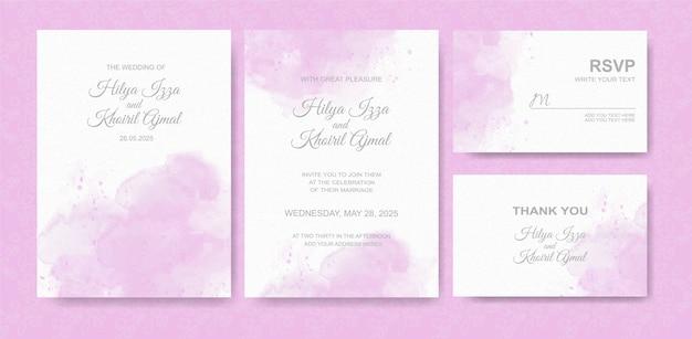 Bellissimo sfondo acquerello carta di nozze Vettore Premium