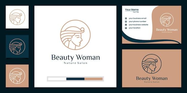Modello di branding logo di bellezza premium Vettore Premium