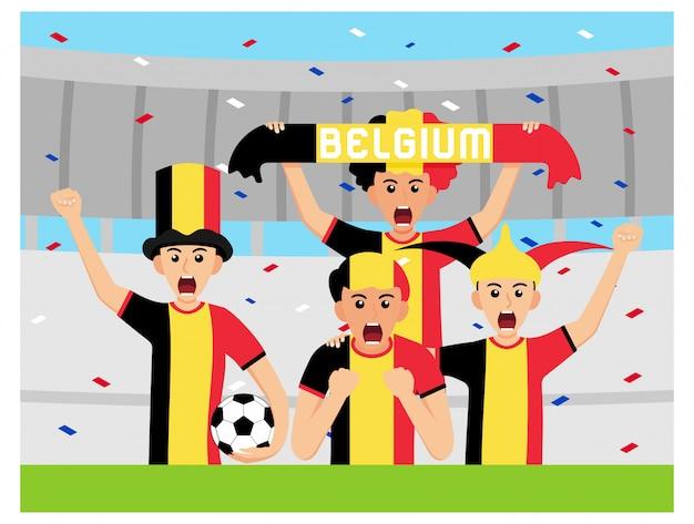 Sostenitori del belgio in design piatto Vettore Premium