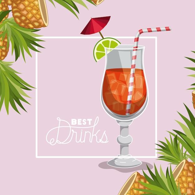 Meglio bere un cocktail fresco Vettore Premium