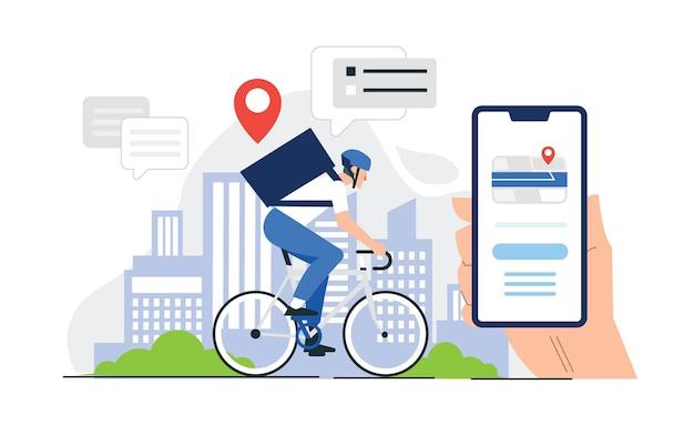 Servizio di consegna bici in città Vettore Premium