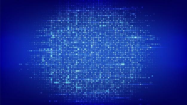 Sfondo di codice binario. matrice dati binari e codice digitale in streaming con sfondo cifre 1 0. Vettore Premium