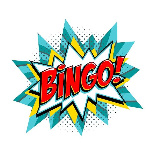 Bingo - bandiera di vettore del turchese della lotteria Vettore Premium