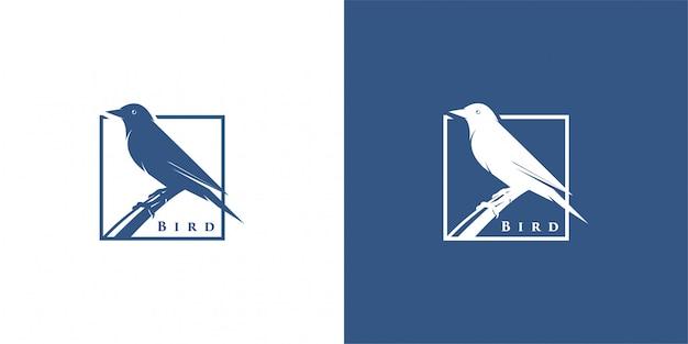 Siluetta dell'uccello logo design inspiration vector Vettore Premium