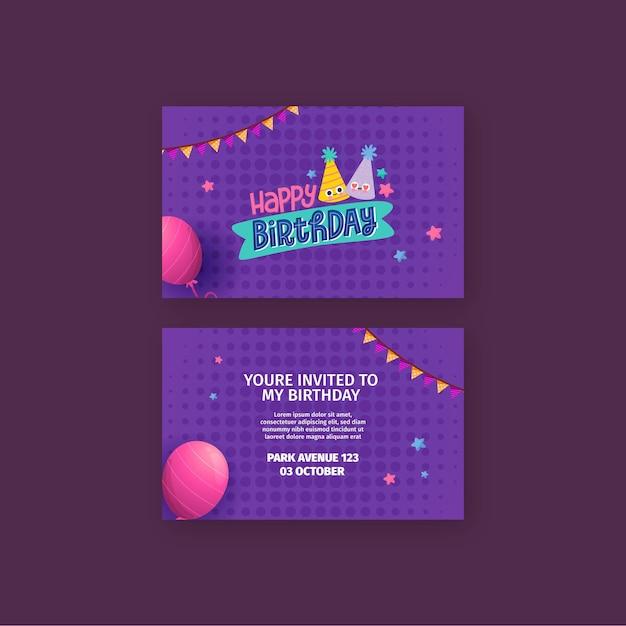 Concetto di carta di compleanno Vettore Premium