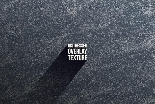 Texture sovrapposta nera in difficoltà di cemento, pietra o asfalto incrinato. Vettore Premium