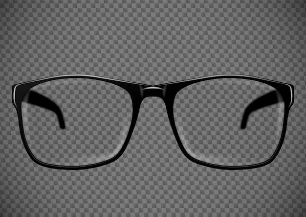 Occhiali da vista neri. illustrazione di occhiali Vettore Premium