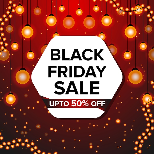 Modello di progettazione banner venerdì nero per la promozione Vettore Premium