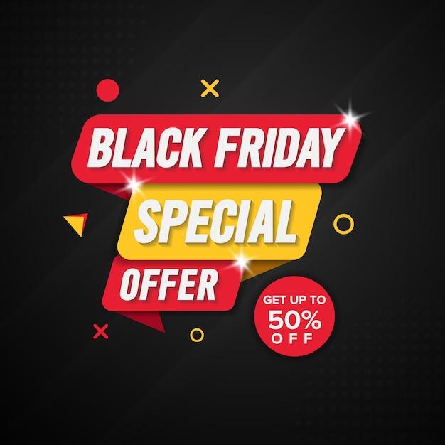 Modello struttura banner venerdì nero. Vettore Premium