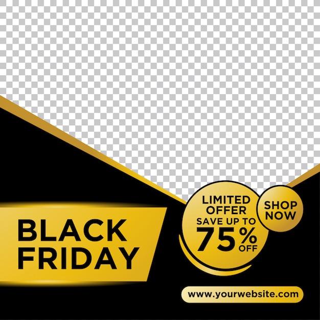 Modello di banner scuro venerdì nero Vettore Premium