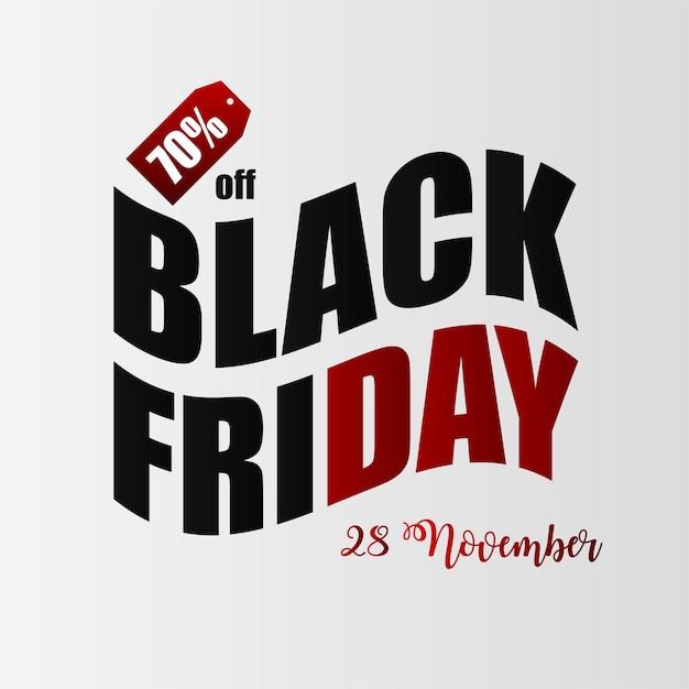 Banner di illustrazione venerdì nero Vettore Premium