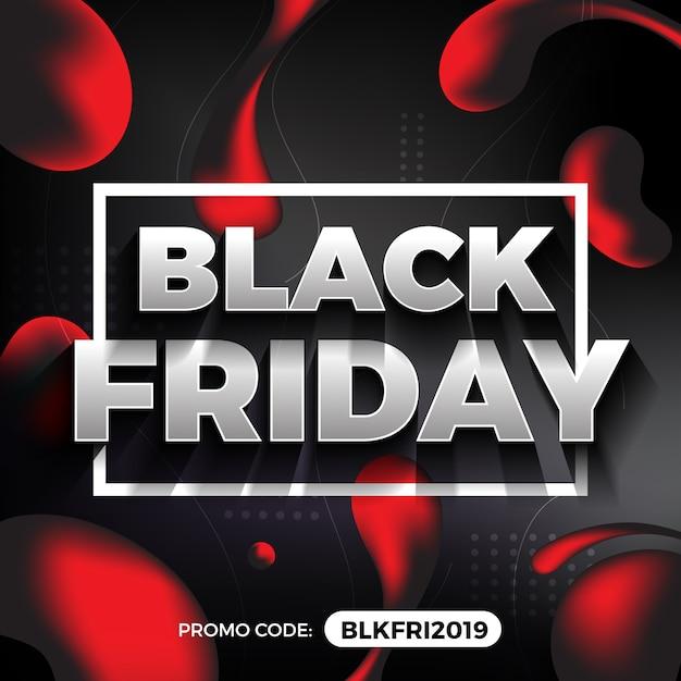 Banner di promozione del black friday Vettore Premium