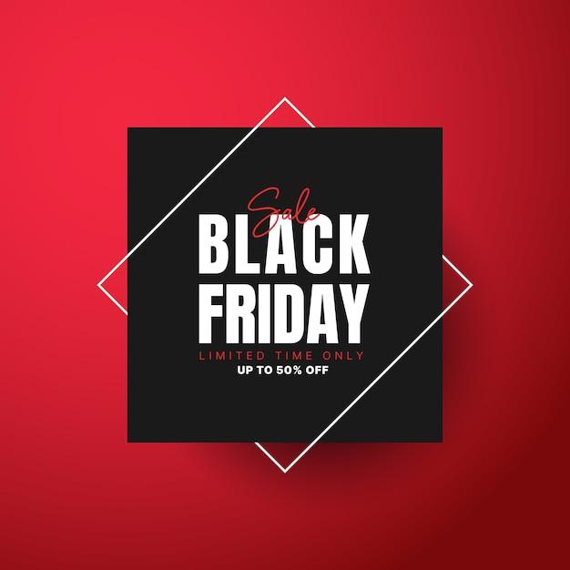 Modello di banner di vendita venerdì nero Vettore Premium