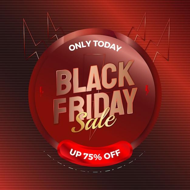 Vendita venerdì nero elegante per modello di banner pubblicitario Vettore Premium