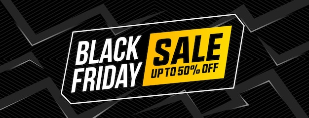 Banner design piatto di vendita venerdì nero Vettore Premium