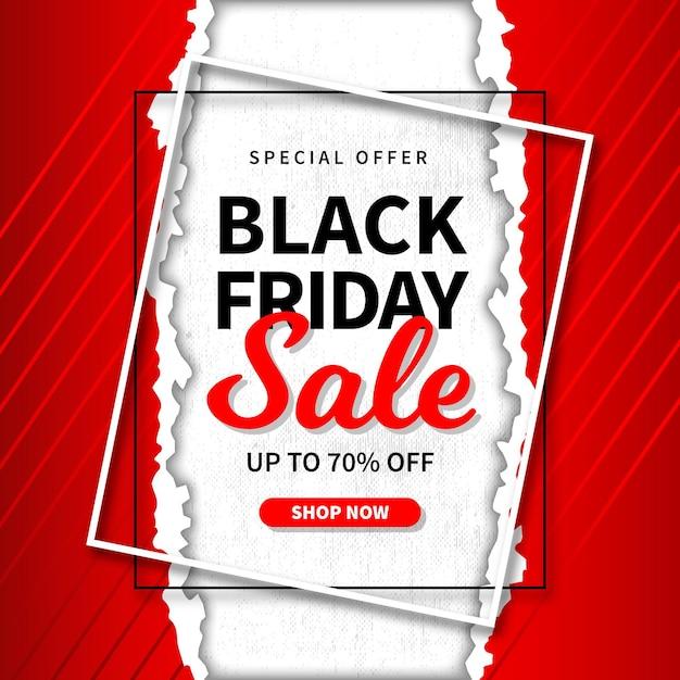 Vendita venerdì nero in stile carta Vettore Premium