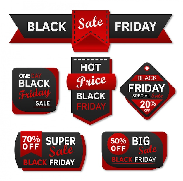 Etichetta dello shopping di vendita venerdì nero Vettore Premium
